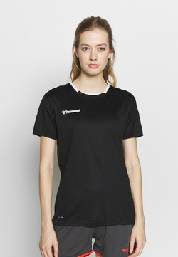 Hummel - HMLAUTHENTIC  - Camiseta estampada - black/white