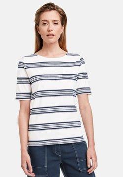 Gerry Weber - T-Shirt print - ecru/weiss/blau ringel