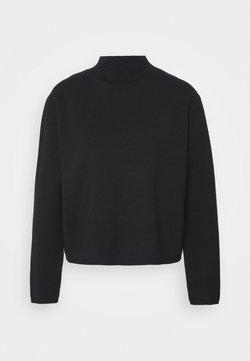 Selected Femme Petite - SLFCALI CROP HIGHNECK - Jersey de punto - black