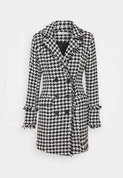 Missguided - TAILORED BLAZER DRESS HOUNDSTOOTH - Freizeitkleid - white