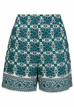 Boden - GEORGINA LEINEN - Shorts - indischer ozean, blumenkacheln