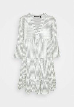Vero Moda Tall - VMHELI 3/4 SHORT DRESS TALL - Freizeitkleid - snow white/laurel wreath