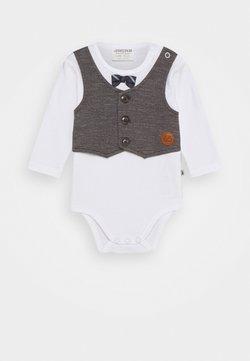 Jacky Baby - LANGARM CLASSIC BOYS - Body - weiß/anthrazit
