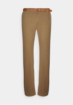 TOM TAILOR - PRINTED CHINO - Chinot - bright brown cross design