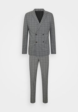 Lindbergh - SUPERFLEX PEAK LAPEL SUIT - Costume - grey check