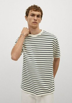 Mango - T-Shirt print - blanc cassé