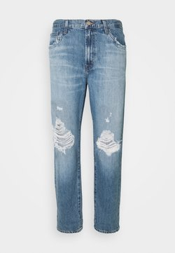 J Brand - TATE MIS RISE BOY  - Jeans baggy - senska destruct