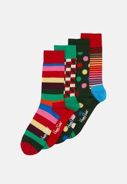 Happy Socks - CLASSIC HOLIDAY GIFT SET CREW SOCKS 4 PACK - Socken - multi