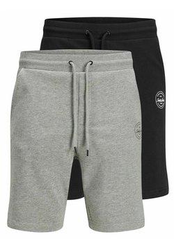 Jack & Jones - 2 PACK - Short - black, mottled black, grey