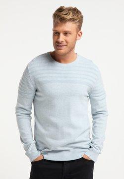 Mo - Stickad tröja - hellblau