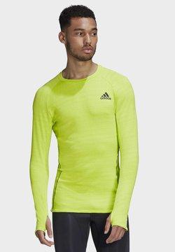 adidas Performance - RUNNER LONG-SLEEVE TOP - Camiseta de manga larga - green