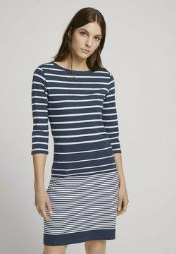 TOM TAILOR - Jerseykleid - blue gradient stripe