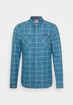 Tommy Jeans - CHECK WESTERN - Camicia - light indigo