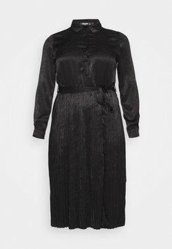 Missguided Plus - PLUS PLEATED  - Robe chemise - black