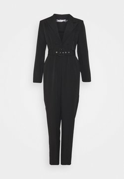 Missguided Tall - TAILORED BELTED JUMPSUIT - Combinaison - black