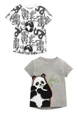 Next - 2 PACK  - T-shirt con stampa - white