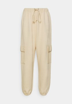 Missguided - JOGGER UTILITY POCKET - Jogginghose - stone