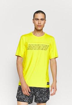 adidas Performance - HYPE TEE - T-Shirt print - yellow