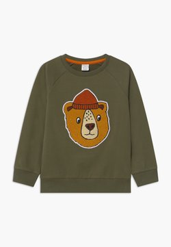 Lindex - PRINT BEAR - Sweater - khaki green