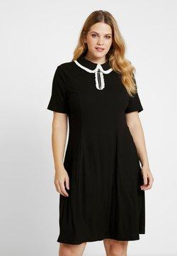 Glamorous Curve - ZIP DRESS - Vestito di maglina - black/white