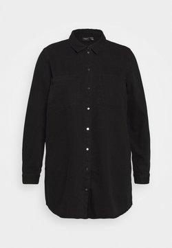 Vero Moda Curve - VMMILA LS LONG SHIRT  - Hemdbluse - black