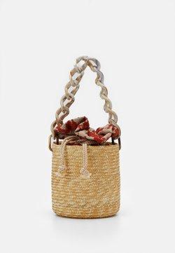 Hermina Athens - BASKET BROCADE MARBLE CHAIN - Handtasche - natural/orange