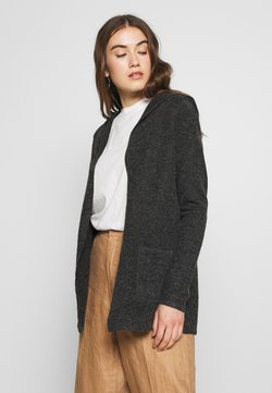 Vero Moda - VMDOFFY OPEN - Strickjacke - black melange
