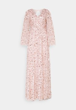 Maya Deluxe - ALL OVER 3D EMBELLISHED DRESS WITH BELL SLEEVE - Vestido de fiesta - pearl pink