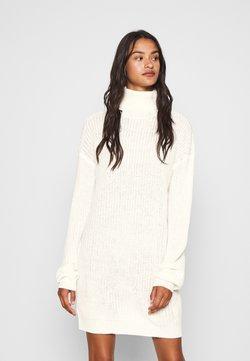 Missguided - ROLL NECK BASIC DRESS - Stickad klänning - off white