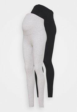 Anna Field MAMA - 2 PACK - Leggings - black/light grey
