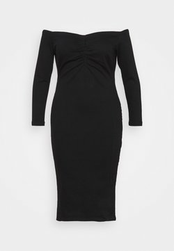 Simply Be - WAY STRETCH BARDOT BODYCON DRESS WITH TUMMY PANEL - Cocktailkleid/festliches Kleid - black