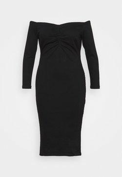 Simply Be - WAY STRETCH BARDOT BODYCON DRESS WITH TUMMY PANEL - Sukienka koktajlowa - black