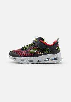 Skechers - VORTEX FLASH - Sneaker low - black/red/lime
