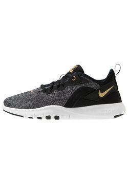 Nike Performance - FLEX TRAINER 9 - Trainings-/Fitnessschuh - black/metallic gold/gunsmoke