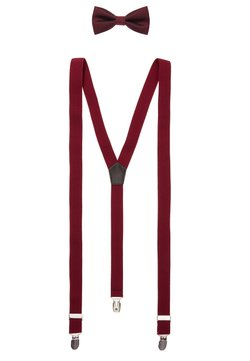 Only & Sons - ONSBOWTIE SUSPENDER SET - Fliege - bordeaux