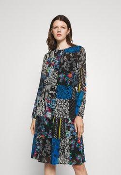 Lauren Ralph Lauren - NAKOMA LONG SLEEVE DAY DRESS - Freizeitkleid - black/blue/multi