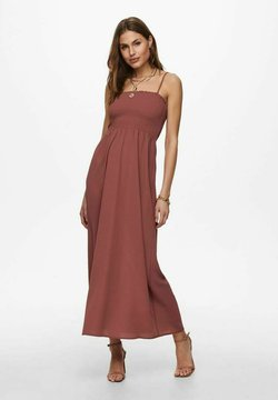 ONLY - GESMOKTES - Maxikleid - red, light red