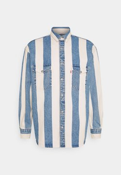 Levi's® - BARSTOW WESTERN UNISEX - Camicia - blue denim/white