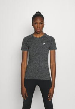 ODLO - CREW NECK SEAMLESS ELEMENT - Camiseta estampada - dark grey