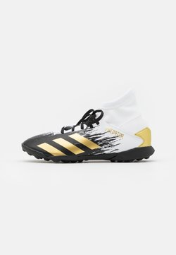 adidas Performance - PREDATOR FOOTBALL BOOTS TURF UNISEX - Fußballschuh Multinocken - footwear white/gold metallic/core black