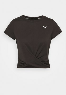 Puma - TRAIN TWISTED TEE - T-Shirt print - black