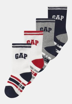 GAP - BOYS LOGO 4 PACK UNISEX - Calcetines - white/grey/black