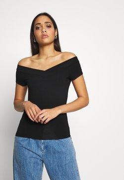 Pieces - PCMALIVA OFF SHOULDER V-NECK - T-shirt basic - black