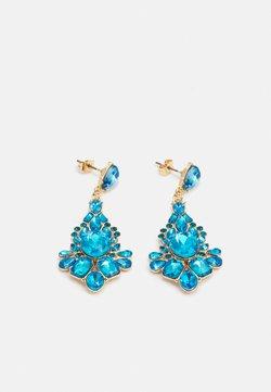 Pieces - PCLAUREN EARRINGS - Earrings - blue/gold-coloured
