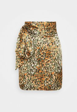 Never Fully Dressed - WILLOW PRINT MINI WRAP SKIRT - Minirok - green