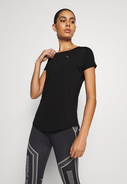 Puma - TRAIN FAVORITE TEE REGULAR FIT - T-paita - black