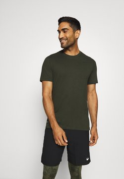 Nike Performance - DRY TEE CREW SOLID - T-paita - sequoia/black