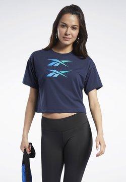 Reebok - BOXY T-SHIRT - T-Shirt print - blue