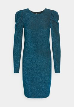 ONLY - ONLDARLING GLITTER PUFF DRESS - Cocktailkleid/festliches Kleid - black/bristol blue