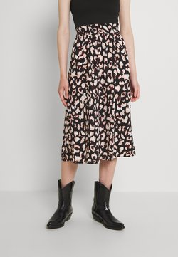 Pieces - PCFALISHI SKIRT - A-Linien-Rock - black